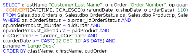 Qs sample sql1